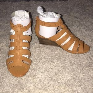 NWT Strappy Wedges